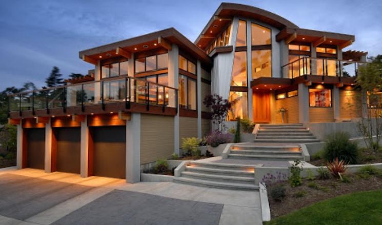 Загородный дом в необычном стиле